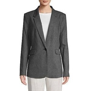 DKNY Womens Blazer Jacket Pic Stitch One Button